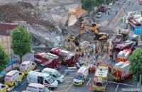 В Южной Корее пятиэтажка рухнула на пассажирский автобус