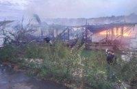 В Киеве сгорел плавучий ресторан