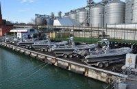 США передали Украине 10 патрульных катеров и 70 надувных лодок