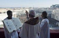 Папа Римский в рождественском послании пожелал мира Украине