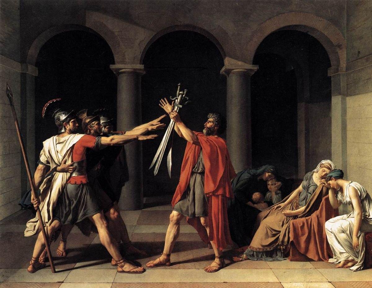 «Присяга Гораціїв» — картина французького художника Жак-Луї Давіда, 1784 р