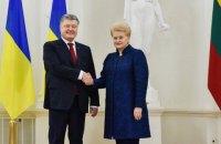 Порошенко сегодня посетит Литву с рабочим визитом