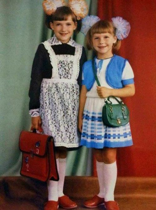 Надя з сестрою Вірою, 1989