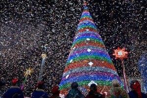 В Киеве выбирают внешний вид новогодней елки