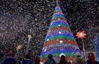 200 тысяч человек отметили Новый год на Майдане Незалежности