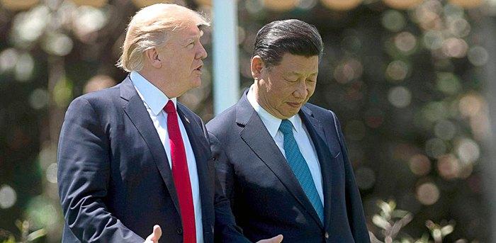Дональд Трамп и Си Цзиньпин во время встречи в резиденции Палм-Бич, 07 апреля 2017
