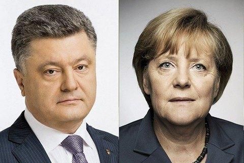 Порошенко обговорив з Меркель Донбас, санкції, євроінтеграцію та газ
