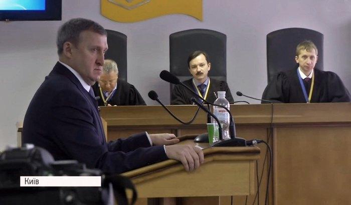 Андрій Дещиця в суді у справі Януковича