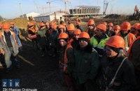 В Киеве люлька со строителями упала с восьмого этажа: есть жертвы