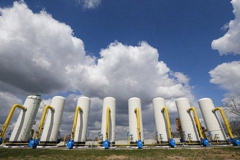 Запаси газу в підземних сховищах України перевищили 16 млрд кубометрів