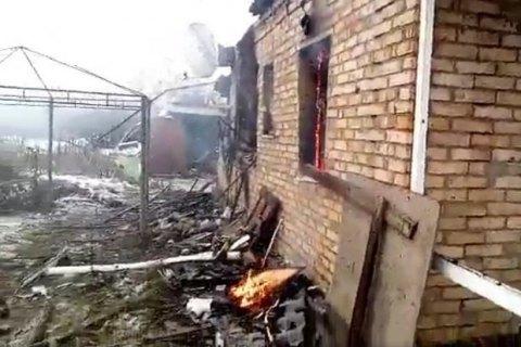 В Жованке в результате обстрела сгорел жилой дом
