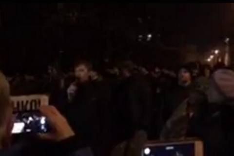 Кількість прихильників Саакашвілі біля Адміністрації Президента подвоїлася