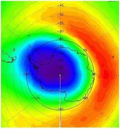 Зональна асиметрія в розподілі озону над Антарктикою