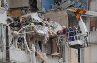 В сети появилось видео взрыва дома на Позняках