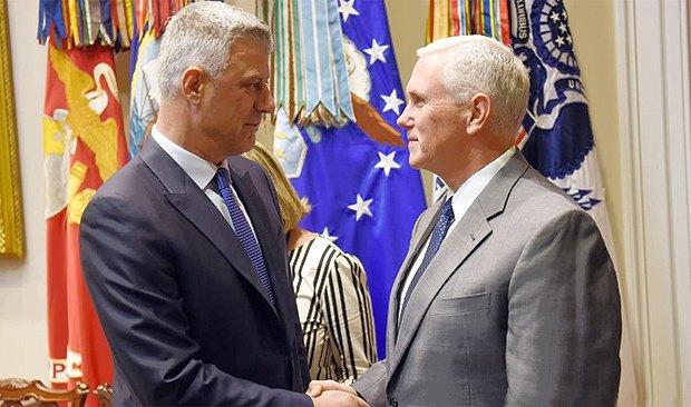 Хашим Тачі та Майк Пенс (справа) під час зустрічі в Вашингтоні