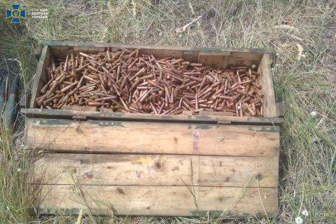 СБУ обнаружила на Луганщине тайник с боеприпасами боевика, причастного к подрыву моста в Подгоровке