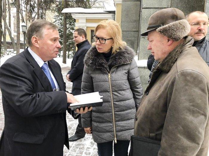Людмила Денісова прибула до Москви у справі військовополонених моряків, 14 січня 2019.