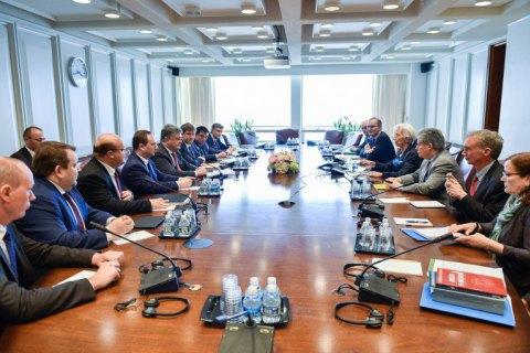 Порошенко встретился с директором МВФ и главой Всемирного банка