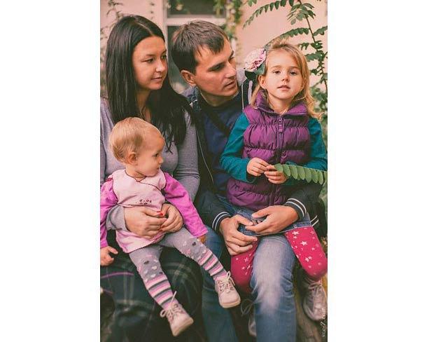 Катя Воронина с семьей