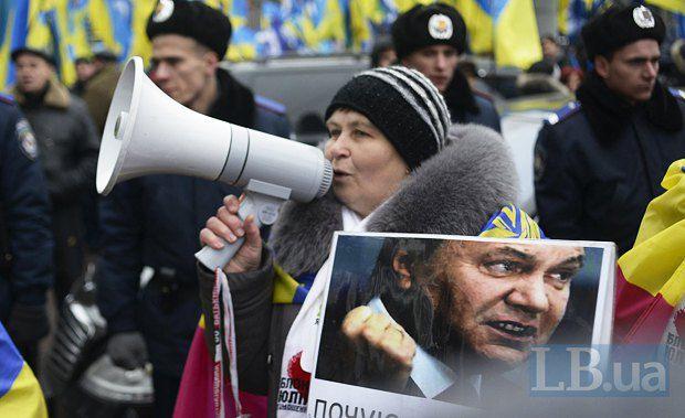 Поддержка Януковича падает с каждым днем