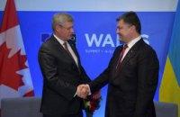 Порошенко обговорив з прем'єром Канади переваги вільної торгівлі