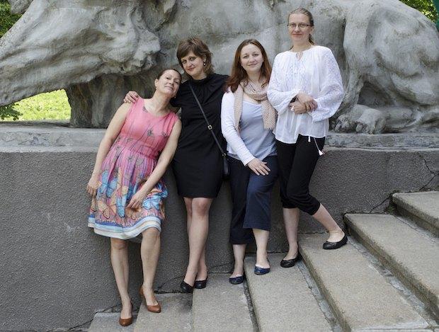 Марина Скирда, Марія Задорожна, Юлія Ваганова і Юлія Литвинець