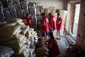 Український Червоний Хрест направив до Луганська 70 тонн гумдопомоги