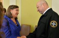 Турчинов обговорив з Нуланд співпрацю у сфері безпеки