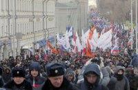 У Росії проходять мітинги на пам'ять про Бориса Нємцова, є затримані