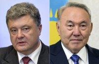 Порошенко і Назарбаєв домовилися про засідання Комісії з економічного співробітництва