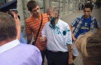 Харківського депутата-комуніста облили зеленкою