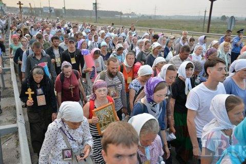 Під час хресної ходи в Києві затримано шістьох осіб, - Аваков