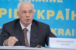 Азаров: Украина намерена втрое сократить закупку газа у России