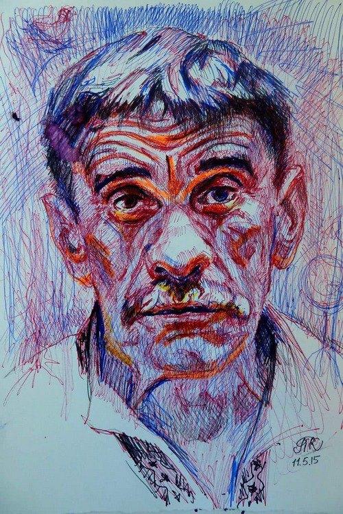 Петро Мідянка. Малюнок Прокопа Колісника (Словаччина), 2015