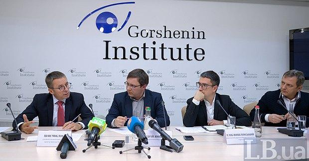 Слева-направо: Иван Миклош, Андрей Яницкий, Глеб Вышлинский и Олег Устенко.