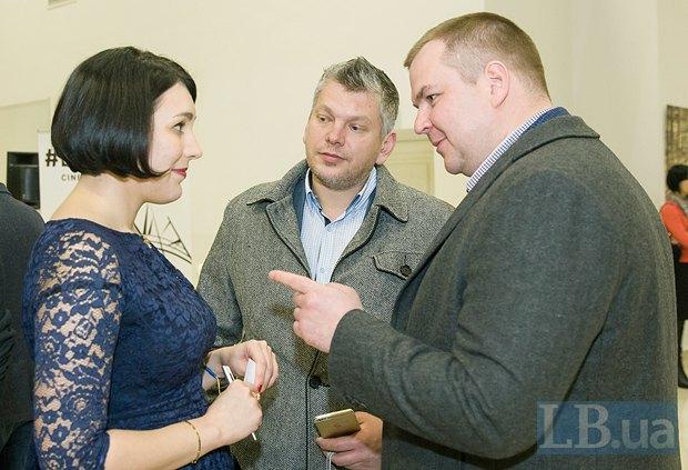 Справа - бывший министр спорта Дмитрий Булатов, в центре - Андрей Вышняк