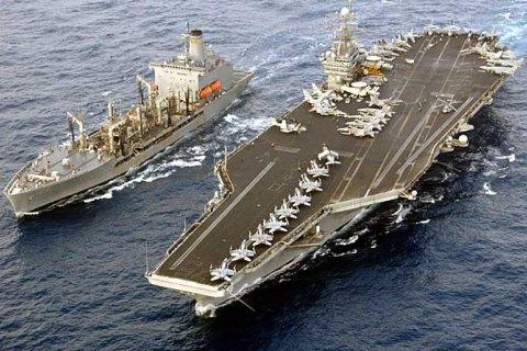 США нанесли удары по ИГИЛ с с находящегося в Средиземном море авианосца