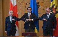 Глави МЗС України, Грузії та Молдови представлять Асоційоване Тріо у Брюсселі