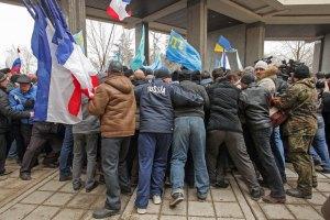Во время митинга в Симферополе умер пожилой мужчина