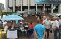 В Киеве разгромили лагерь защитников украинского языка