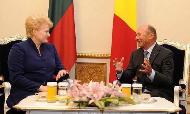 Далия Грибаускайте и Трайян Базеску