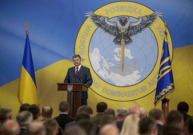 Президент Петр Порошенко на представленні нового глави ГУР МО