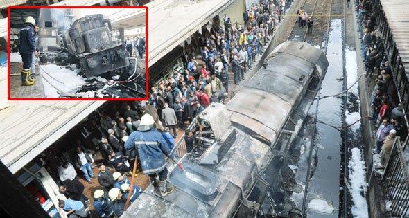 При пожаре на центральнмо вокзале Каира погибли 25 человек