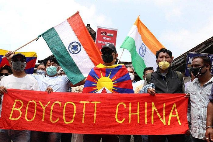 Тибетские и индийские активисты бойкотируют Китай
