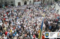 Мэрия насчитала 5 тыс. человек на вече во Львове