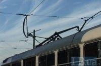 У Києві у трамвая №23 обірвався струмоприймач