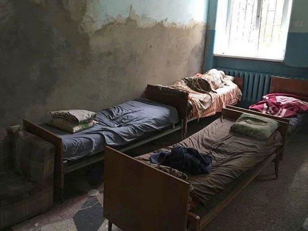 Одна из палат областной психиатрической больницы Черновицкой области