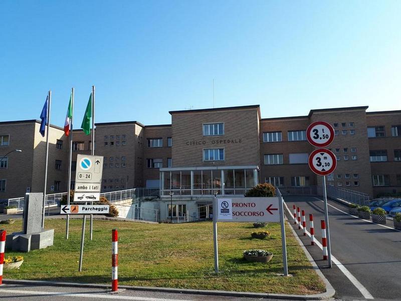 Лікарня в Кодоньо, де померла одна з хворих на коронавірус