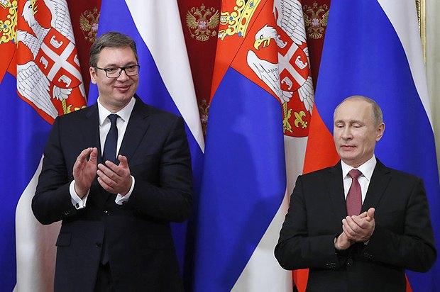 Встреча Александра Вучича и Владимира Путина в Москве, 17 декабря 2017.