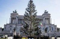 У Римі вибухнув скандал навколо засохлої різдвяної ялинки